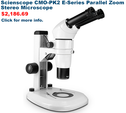 Scienscope CMO-PK2 E-Series Parallel Zoom Stereo Microscope