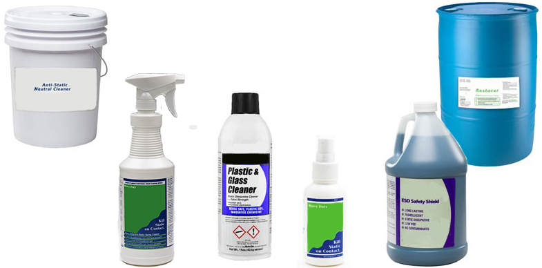 Anti-Static cleaners and sprays from ACL Staticide, SCS, and Static Solutions