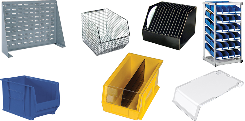 Bin Dividers, Bin Hanging Systems, Bin Shelving Systems, ESD Bins, Conductive Bins, Shelf Bins, Stackable and Hangable Bins and more