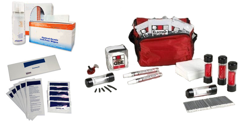 Fiber Optic Cleaning Kits and Printer Cleaner Kits from Brady, Chemtronics and MicroCare Corporation