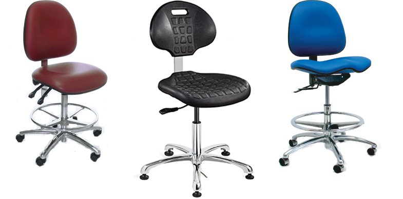 Cleanroom Chairs by Bevco Ergonomic Seating, Gibo/Kodama Seating and Industrial Seating.