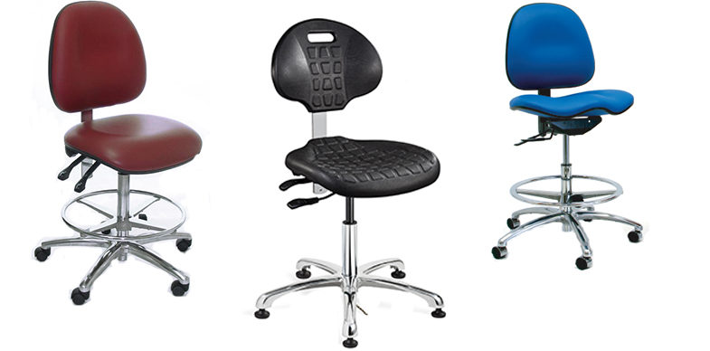 Cleanroom chairs and cleanroom stools from Bevco Ergonomic Seating, Gibo/Kodama Chairs and Industrial Seating
