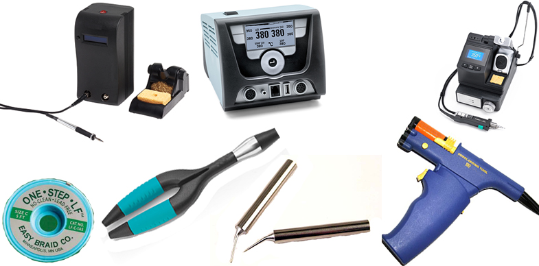 Desoldering/Rework Stations, Desoldering Braid and Wick, Irons and Handpieces, Tips and more from Hakko, JBC Tools, Metcal Inc, Weller and more