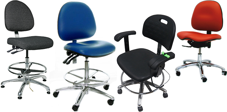 ESD Chair and ESD Stools by Bevco Ergonomic Seating, Gibo/Kodama Seating, and Industrial Seating