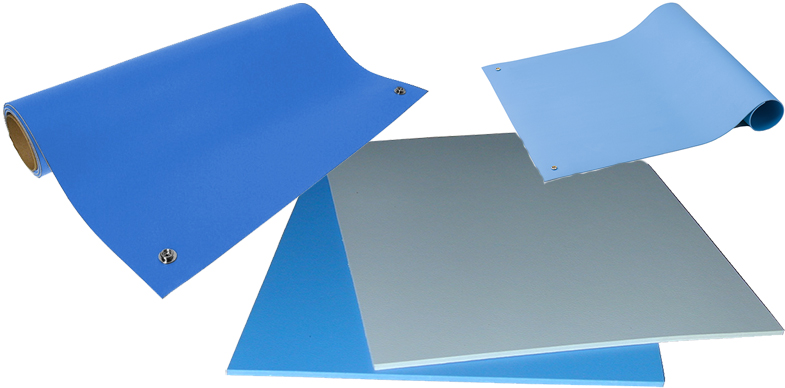 ESD Vinyl Table Mats from ACL Staticide, SCS, and Transforming Technologies