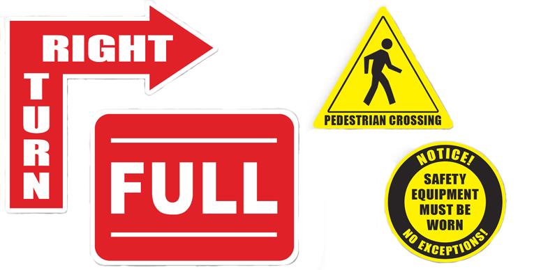 floor safety signs for all industries from Ergomat