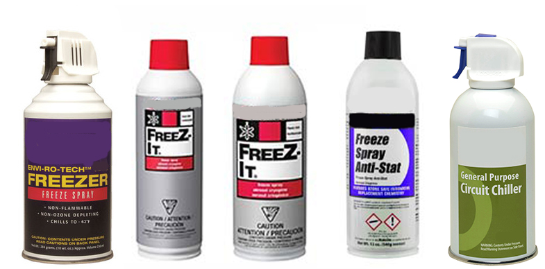 Freeze Sprays from ACL Staticide, Chemtronics, MicroCare Corporation and TechSpray