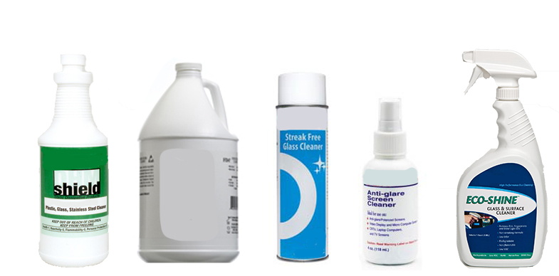 Glass Lens Cleaners and Surface Cleaners from ACL Staticide, MicroCare Corporation, R and R Lotion, Static Solutions and TechSpray