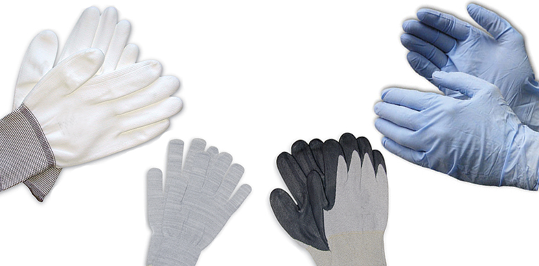 assembly and inspection gloves, clean room gloves, knitted gloves, Nitrile gloves, urethane gloves, vinyl gloves and more