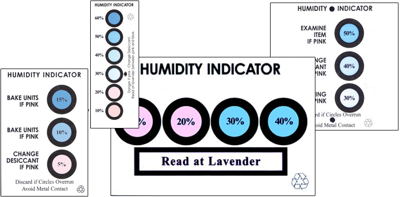 Humidity Indicator Cards from SCS
