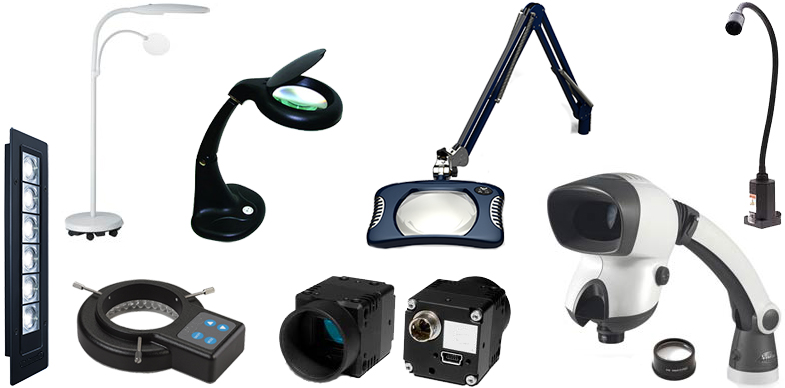 Binocular Microscopes, Task Lights, Illuminated Magnifiers, Visual Inspection Systems and Trinocular Microscopes