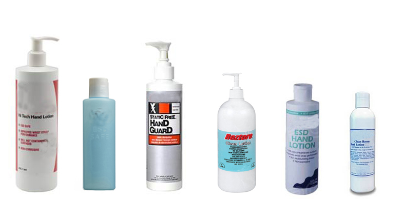 Hand Lotions and ESD Lotions from ACL Staticide, Chemtronics, R and R Lotion, Static Solutions, TechSpray