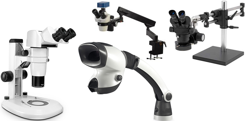 Binocular Microscopes, Trinocular Microscopes and Visual Inspection Systems from O.C. White, Scienscope, Unitron and Vision Engineering