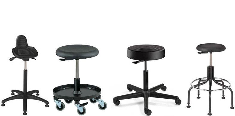 Polyurethane Stools by Bevco Ergonomic Seating, Gibo/Kodama Seating and Industrial Seating.
