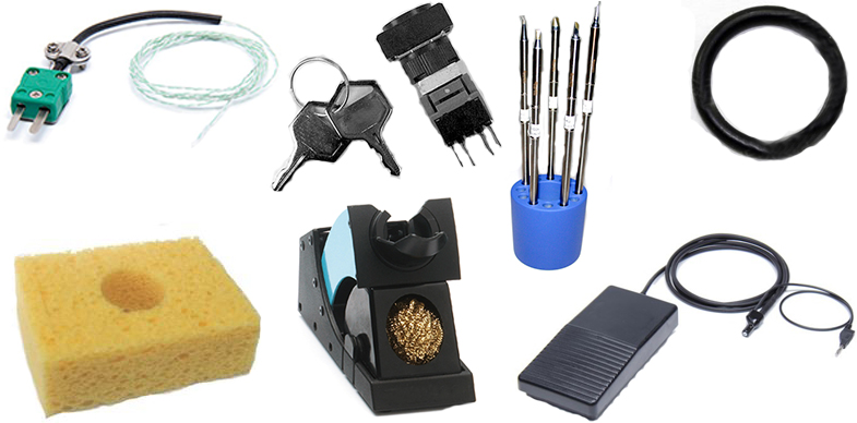 Soldering Replacement Accessories like tip cleaners, sponges, Soldering Iron Stands and more from manufacturers like JBC Tools, Hakko, Metcal.