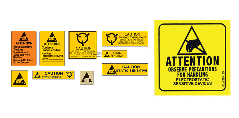 Static Warning Labels and Static Warning Signs from Brady Worldwide Inc, SCS and Botron