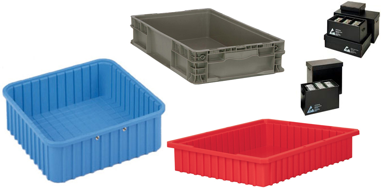 Totes and Accessories from Conductive Containers Inc, InterMetro Corporation and Quantum Storage Systems