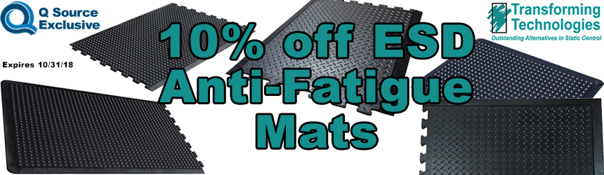 Transforming Technologies ESD Anti-Fatigue Mats Promo