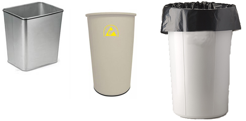 Trash Cans from ACL Staticide, Static Solutions and Transforming Technologies