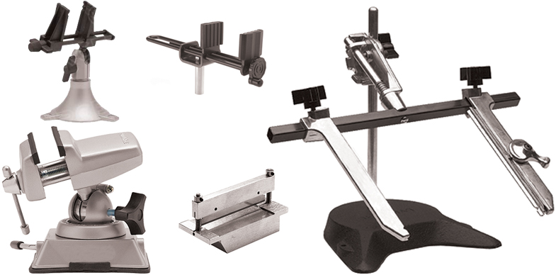Vises in all shapes in sizes from Hakko, Panavise Products and MB Manufacturing