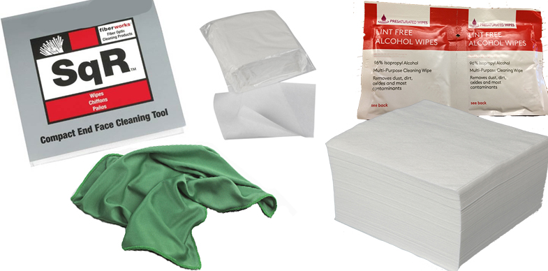 Wipes and rags from ACL Staticide, MicroCare, TechSpray and Transforming Technologies