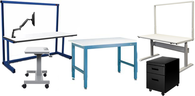 Workbenches, Chairs, Industrial Furniture, Workstations, Stainless Steel Worktables