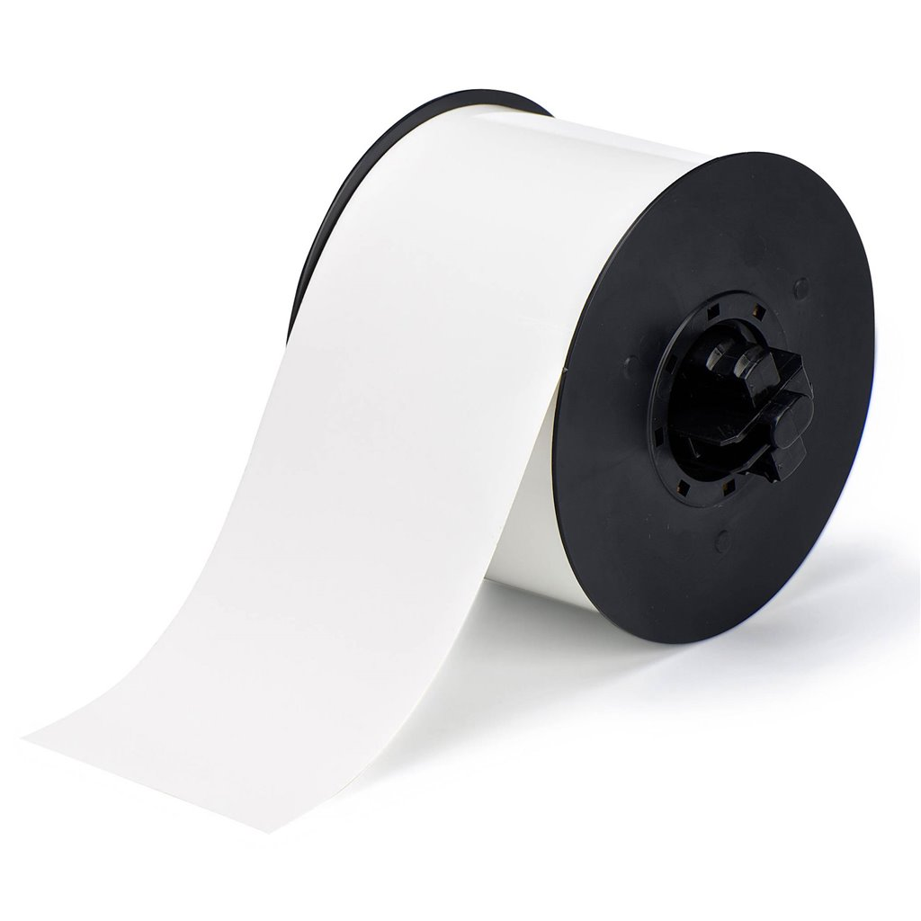 White 100 x 4 Brady B30C-4000-483WT-KT Polyester with Polyester Over Laminate Continuous Tape
