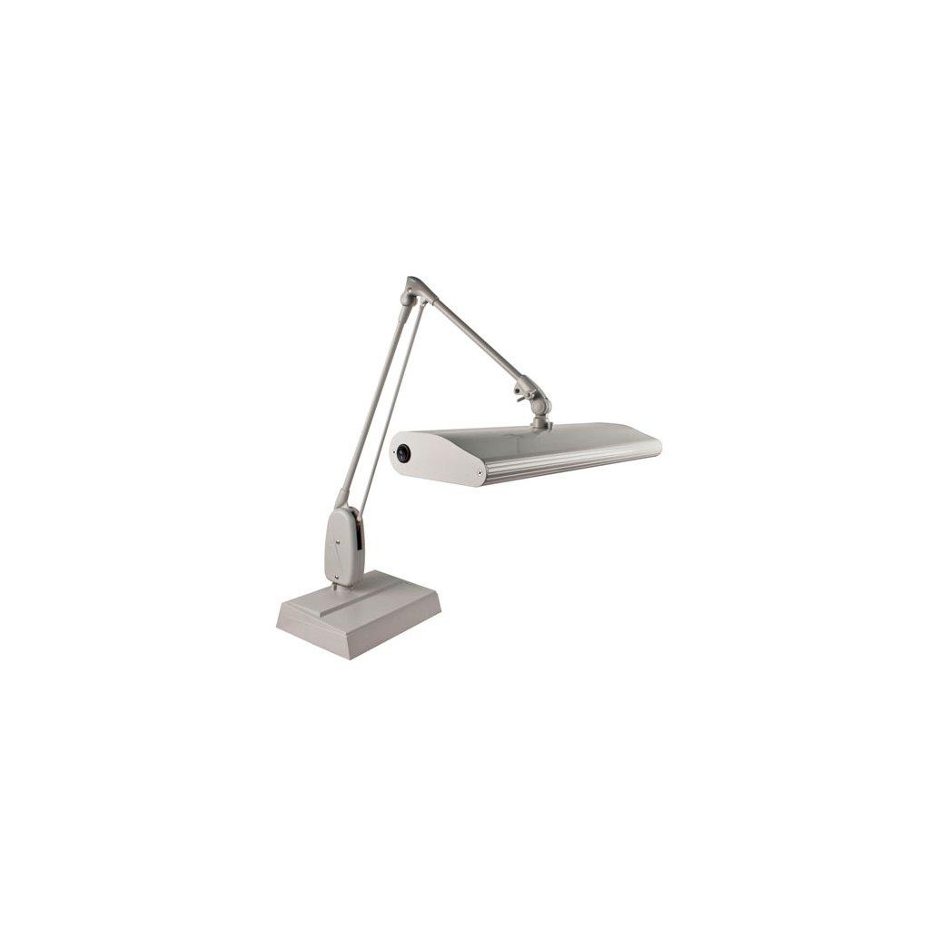 Dazor 318c3 Wh Dl Contemporary 3 Fluorescent Lamp W Desk Base Clic Arm 33 Reach Daylight Bulb White