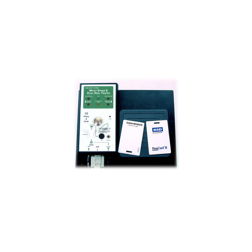 Static Solutions CT-8950 - Ohm-Stat™ Deluxe Combo Wrist & Foot Strap Tester  w/Barcode or Magnetic Stripe Reader