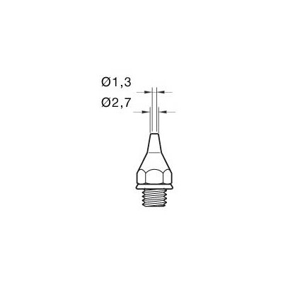 JBC Tools 0321400 - 32 HT High Thermal Performance Tip for DST Desoldering Iron - O.D 2.7 mm/I.D 1.3 mm