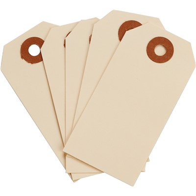 "Brady 102041 - Blank Manila Tags - 3.25"" H x 1.625"" W - Cardstock - Pack of 1000 Tags"