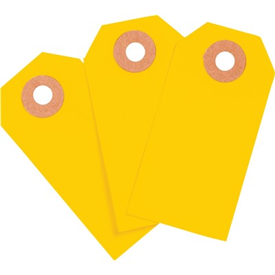 "Brady 102048 - Blank Write-On Tags - 2.75"" H x 1.375"" W - Cardstock - Fluorescent Orange - Pack of 1000 Tags"