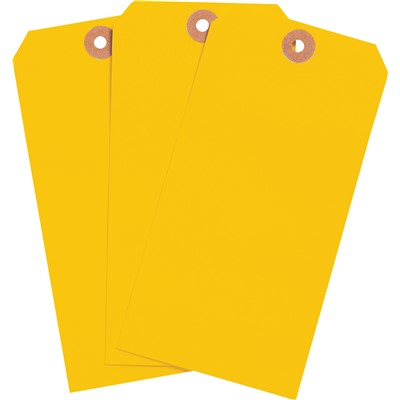 "Brady 102055 - Blank Write-On Tags - 6.25"" H x 3.125"" W - Cardstock - Fluorescent Orange - Pack of 1000 Tags"