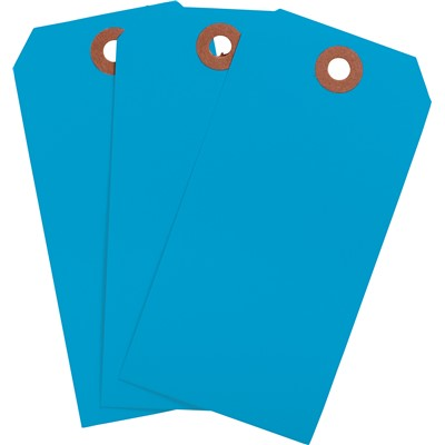 "Brady 102092 - Blank Write-On Tags - 4.75"" H x 2.375"" W - Cardstock - Light Blue - Pack of 1000 Tags"