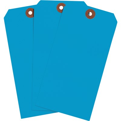 "Brady 102093 - Blank Write-On Tags - 5.25"" H x 2.625"" W - Cardstock - Light Blue - Pack of 1000 Tags"