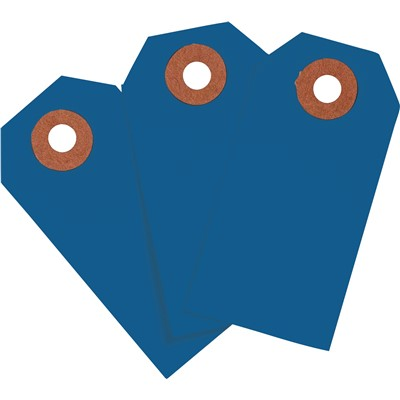 "Brady 102098 - Blank Write-On Tags - 3.75"" H x 1.875"" W - Cardstock - Dark Blue - Pack of 1000 Tags"