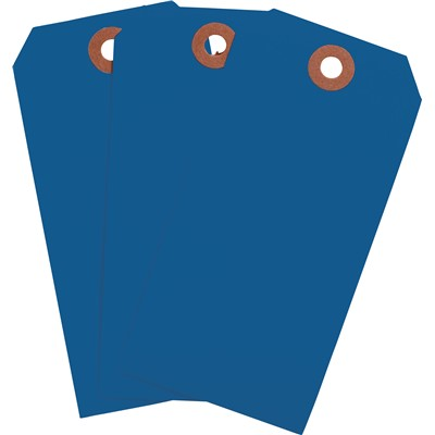 "Brady 102099 - Blank Write-On Tags - 4.25"" H x 2.125"" W - Cardstock - Dark Blue - Pack of 1000 Tags"