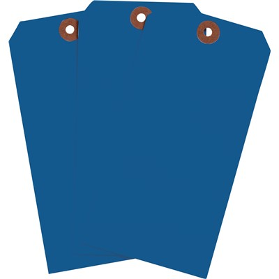 "Brady 102102 - Blank Write-On Tags - 5.75"" H x 2.875"" W - Cardstock - Dark Blue - Pack of 1000 Tags"