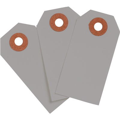 "Brady 102106 - Blank Write-On Tags - 3.75"" H x 1.875"" W - Cardstock - Gray - Pack of 1000 Tags"