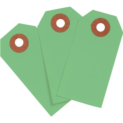 "Brady 102114 - Blank Write-On Tags - 3.75"" H x 1.875"" W - Cardstock - Light Green - Pack of 1000 Tags"