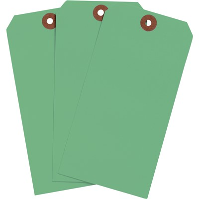 "Brady 102118 - Blank Write-On Tags - 5.75"" H x 2.875"" W - Cardstock - Light Green - Pack of 1000 Tags"