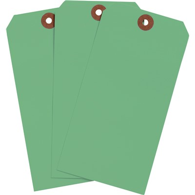 "Brady 102119 - Blank Write-On Tags - 6.25"" H x 3.125"" W - Cardstock - Light Green - Pack of 1000 Tags"