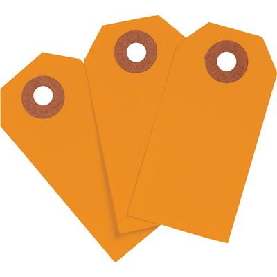"Brady 102128 - Blank Write-On Tags - 2.75"" H x 1.375"" W - Cardstock - Orange - Pack of 1000 Tags"