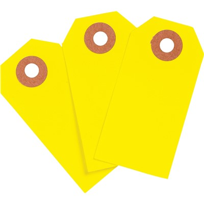 "Brady 102138 - Blank Write-On Tags - 3.75"" H x 1.875"" W - Cardstock - Yellow - Pack of 1000 Tags"