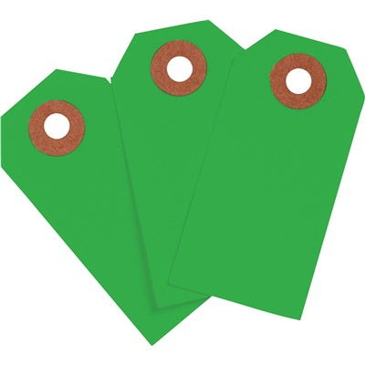 "Brady 102146 - Blank Write-On Tags - 3.75"" H x 1.875"" W - Cardstock - Dark Green - Pack of 1000 Tags"