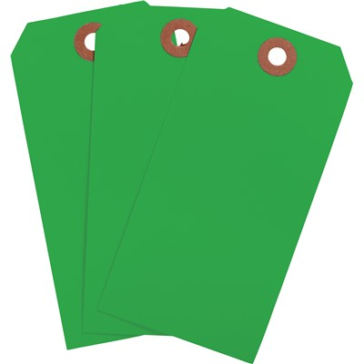 "Brady 102148 - Blank Write-On Tags - 4.75"" H x 2.375"" W - Cardstock - Dark Green - Pack of 1000 Tags"