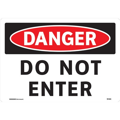 "Brady 102435 - DANGER Do Not Enter Sign - 7"" H x 10"" W - Vinyl"