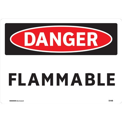 "Brady 102437 - DANGER Flammable Sign - 7"" H x 10"" W - Aluminum"