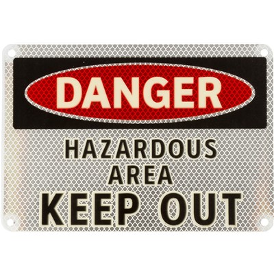 "Brady 102484 - DANGER Hazardous Area Keep Out Sign - 7"" H x 10"" W - Aluminum"