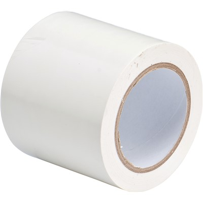 "Brady 102837 - Marking Tape Roll - Abrasion Resistant Vinyl - Solid Color - White - 4"" - Roll of 108 Feet"